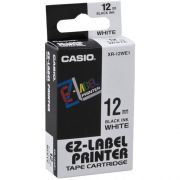 Fita Rotulador Casio XR-12WE1 12mm Preto/Branco
