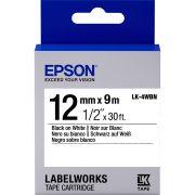 Fita Rotulador Epson LK-4WBN 12mm Preto/Branco LW300 LW400