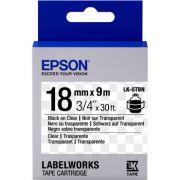 Fita Rotulador Epson LK-5TBN 18mm Preto/Transparente