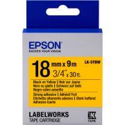 Fita Rotulador Epson LK-5YBW 18mm Preto/Amarelo