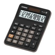 Kit com 3 Calculadoras De Mesa Casio Mx-12b Preta 12 Dígitos Solar