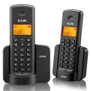 Telefone Sem fio Elgin TSF 8002 Preto com Ramal