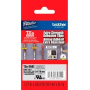 Fita Rotulador Brother TZES-941 18mm Preto/Prateado Extra Forte