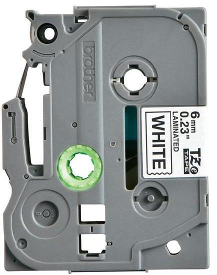 Fita Rotulador Brother TZE-211 6mm Preto/Branco