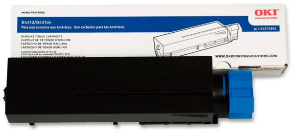 Toner Okidata B431/MB491 Preto de alto rendimento - 44917601