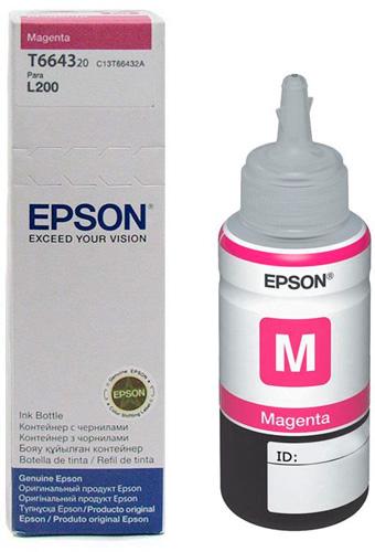 Refil De Tinta Magenta Original Epson L200 L355 L555 T664320