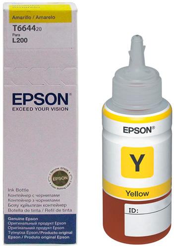 Refil De Tinta Amarelo Original Epson L200 L355 L555 T664420