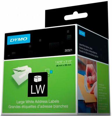 6 Rolos Etiqueta Dymo Labelwriter 30321 36x89mm Lw450