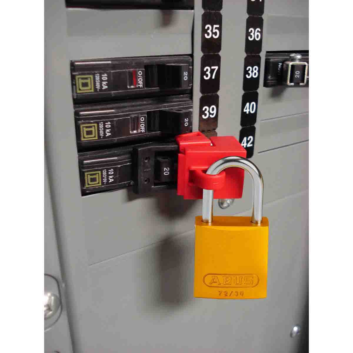 Bloqueio Disjuntor Monopolar Brady 480/600 Volts Universal 65966