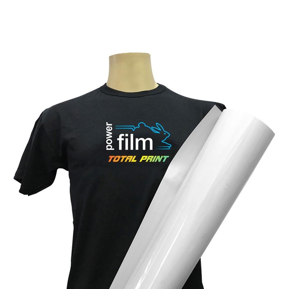 Bobina de Filme Têxtil Imprimível Power Film Total Print 25 metros