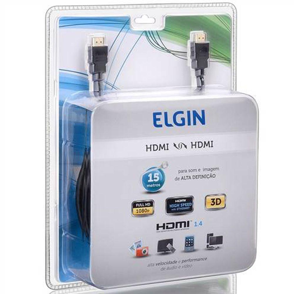 Cabo HDMI- HDMI Elgin 15 Metros de Alta Definição