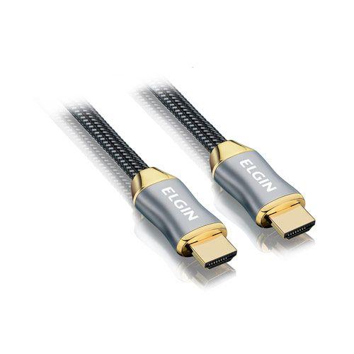 Cabo HDMI 2.0 Premium Elgin 18gbps Conector banhado a Ouro 2 metros