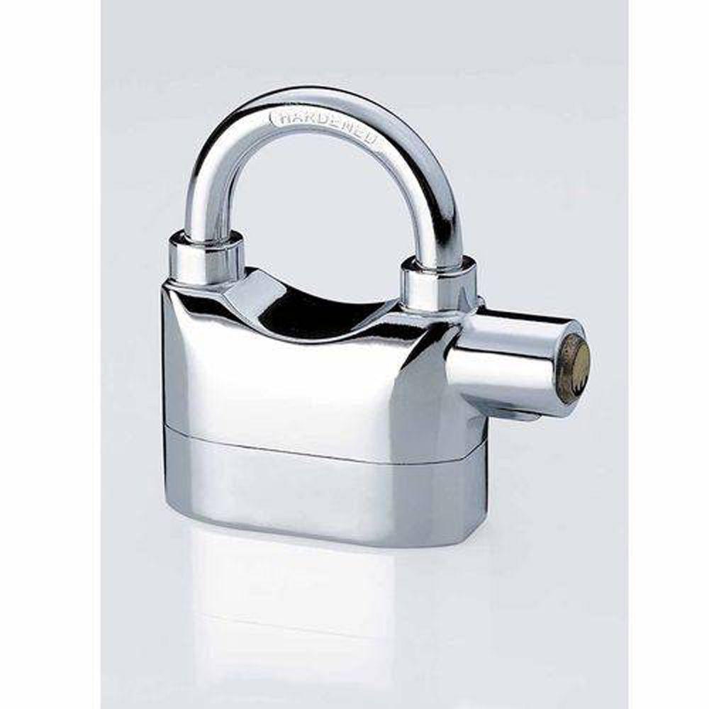 Cadeado Lock Alarm K101A Cromado Com Alarme Sonoro
