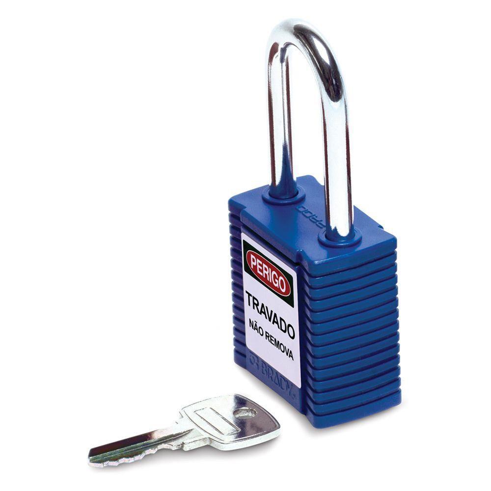 Cadeado Brady Express Azul Corpo em Plástico 77556