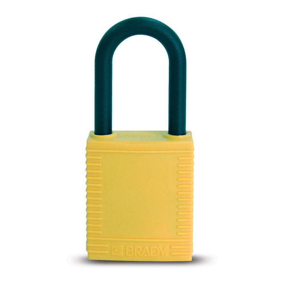 Cadeado Brady Amarelo Haste e Corpo em Plástico 78680