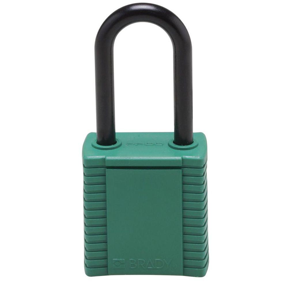Cadeado Brady Verde Haste e Corpo em Plástico 78675