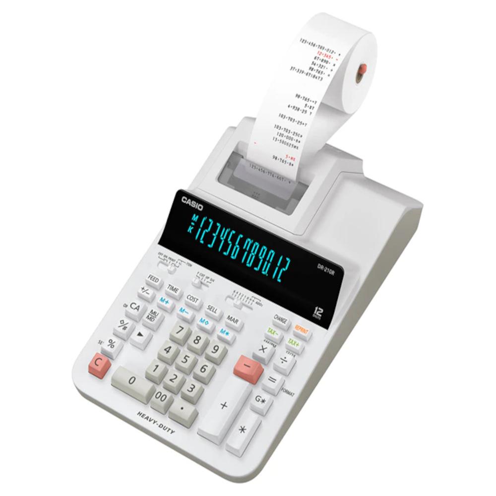 Calculadora c/ Bobina Casio DR-210R 12 Dígitos 2 Cores Impressão 110V