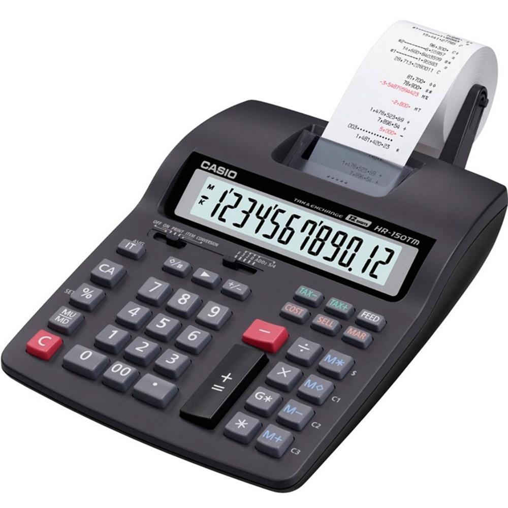 Calculadora c/ Bobina Casio HR-150TM Compacta 12 dígitos