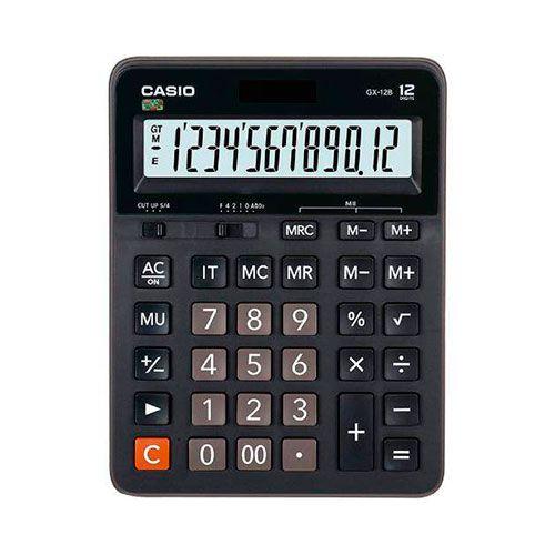 Calculadora Casio Extra Large Solar 12 Dig GX-12B-BK