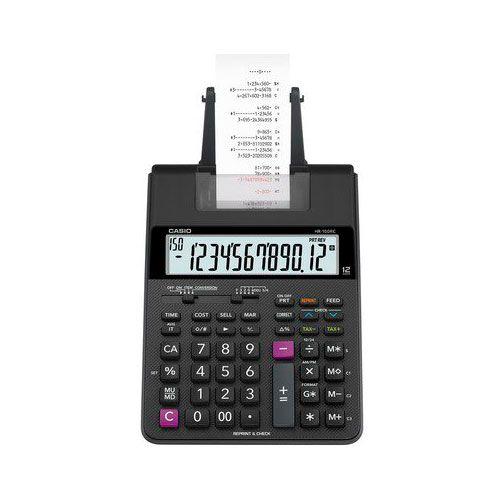 Calculadora Casio HR-100RC Preta Com Bobina 12 Dígitos