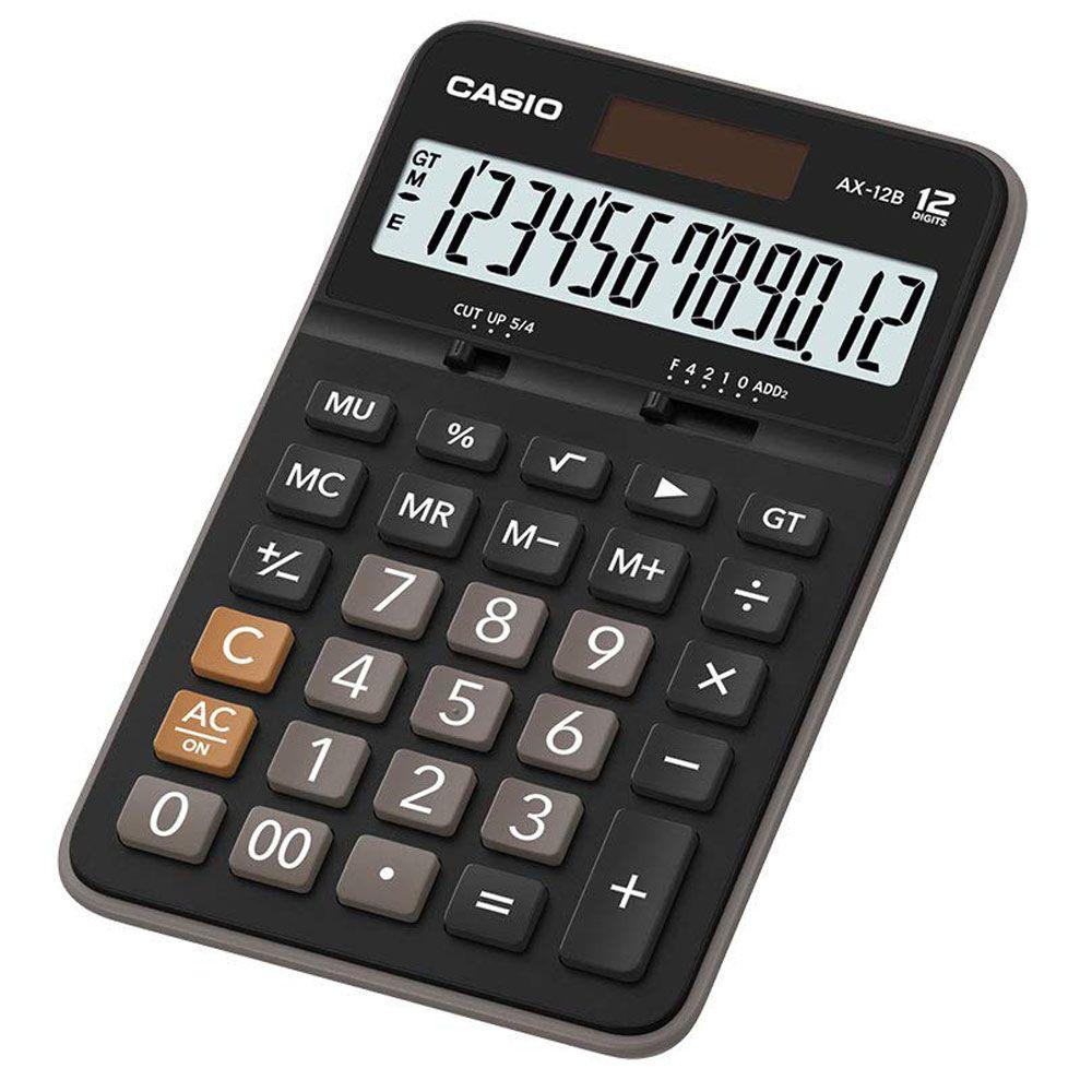 Calculadora Casio AX-12B Preta Extra Large