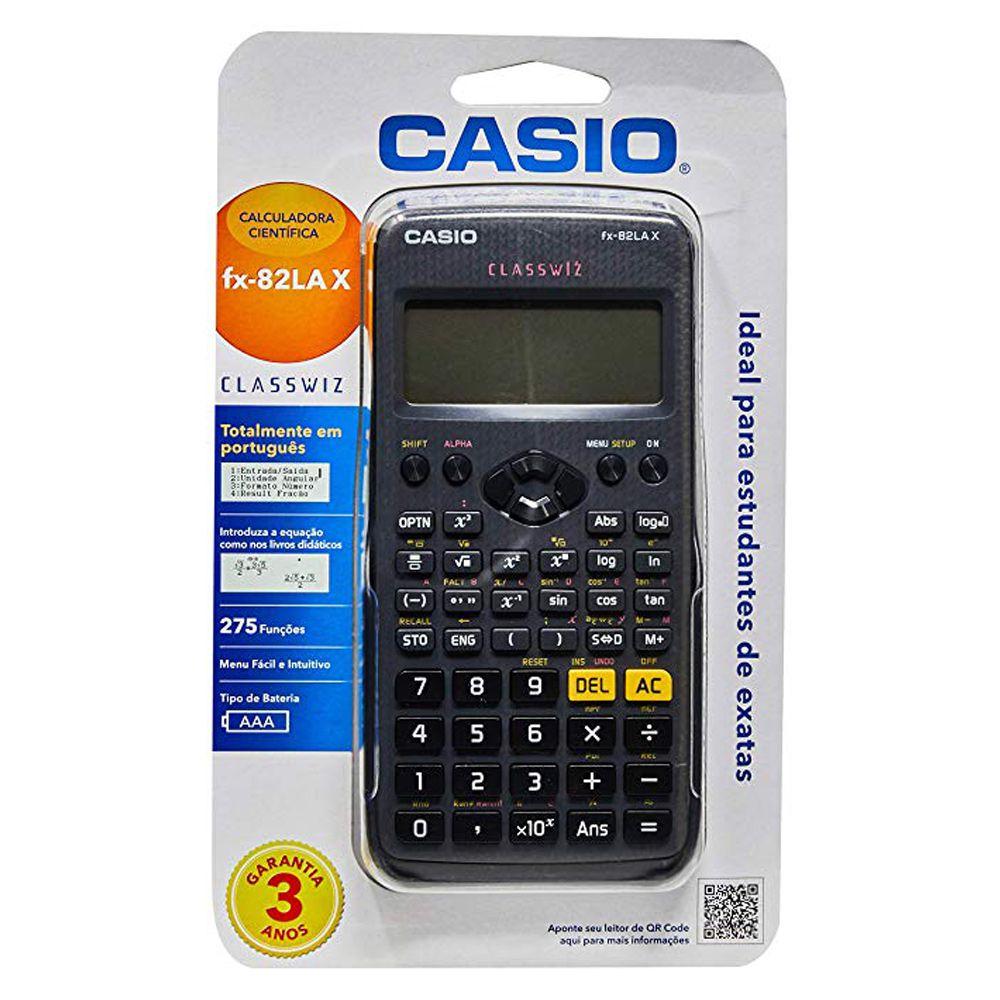 Calculadora Científica Casio fx-82lax Preta