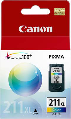 Cartucho de Tinta Canon CL-211XL Tricolor Alto Rendimento