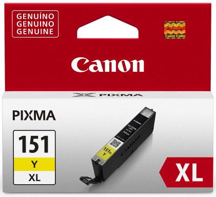 Cartucho de Tinta Canon CLI-151Y XL Amarelo Alto Rendimento