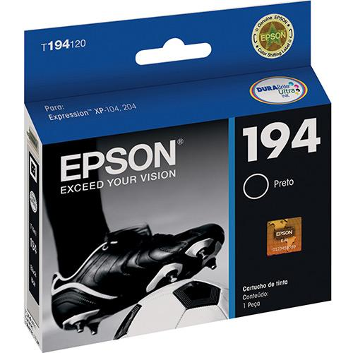 Cartucho de Tinta Epson T194120 Preto XP204 XP214