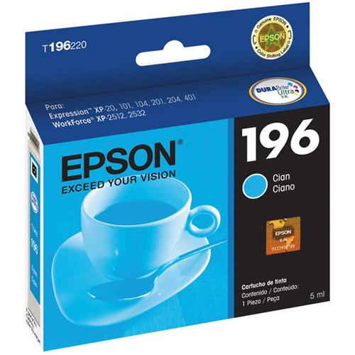 Cartucho de Tinta Epson T196220 Ciano XP214 XP401