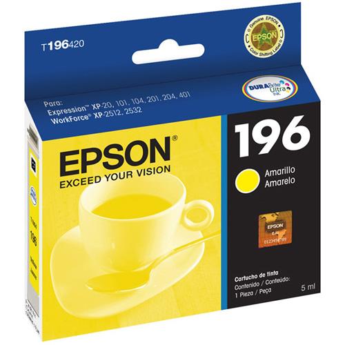 Cartucho de Tinta Epson T196420 Amarelo XP214 XP401