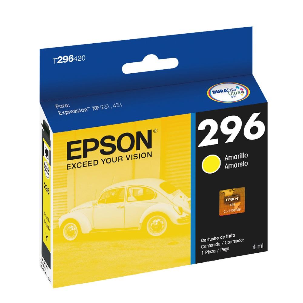 Cartucho de Tinta Epson T296420 Amarelo XP231 XP431