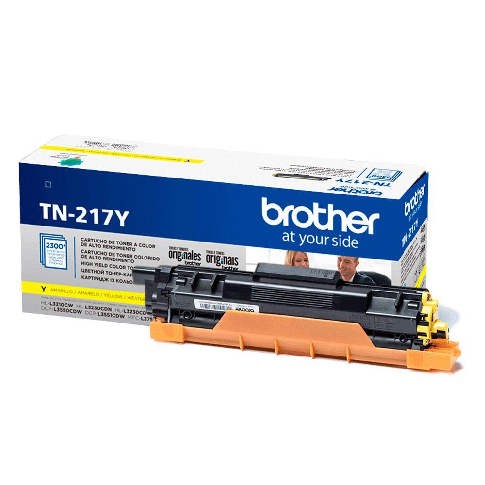 Cartucho de Toner Brother TN-217Y Amarelo