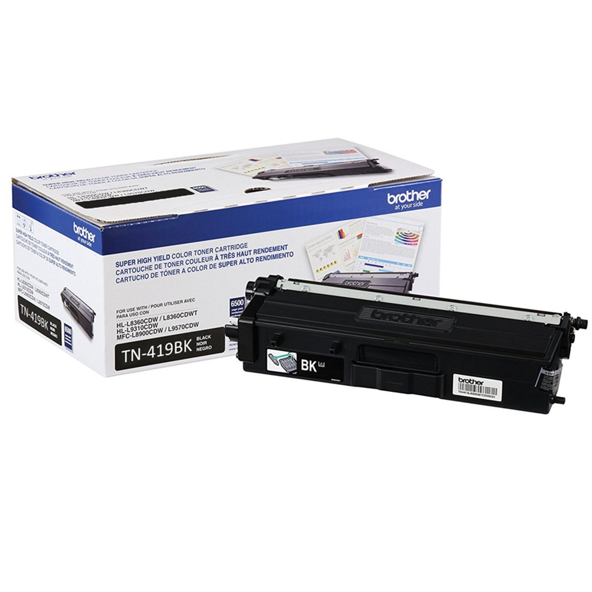 Cartucho de Toner Preto Brother TN-419BK