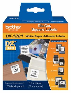 Etiqueta Brother DK-1221 Pré-Cortada 23x23mm QL570 QL700