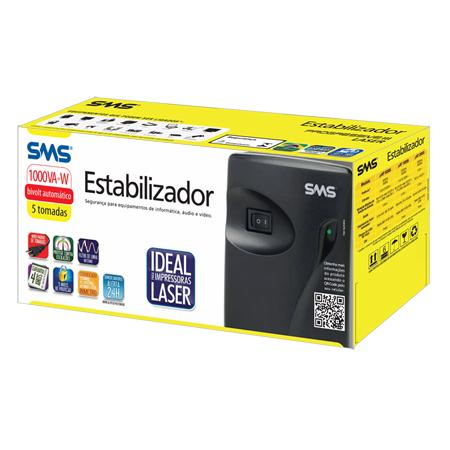Estabilizador SMS Progressive III Laser 1000VA - BIVOLT