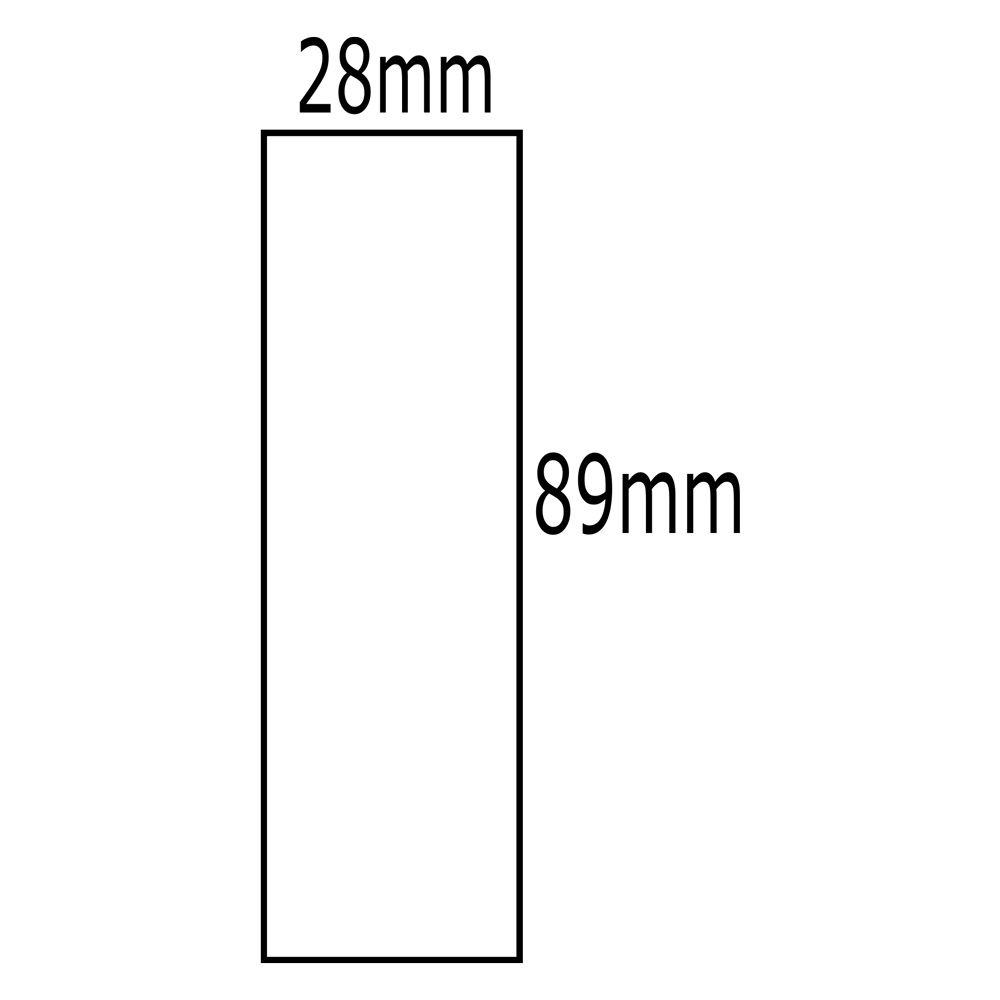 Etiqueta Dymo 30254 LabelWriter  Transparente 28x89mm