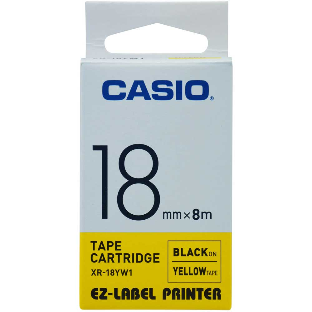 Fita Casio 18mm XR-18YW1 Preto/Amarelo KL120