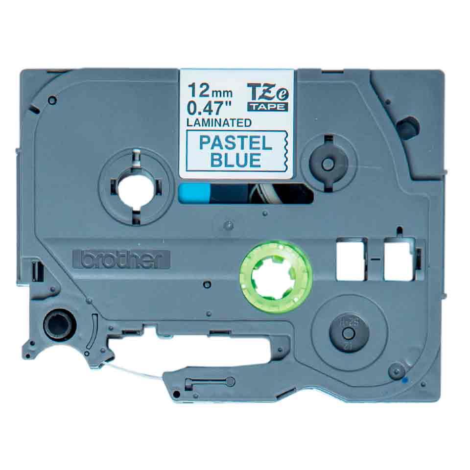 Fita Decorativa P-touch TZe-MQ531 Preto sobre azul claro 12mm