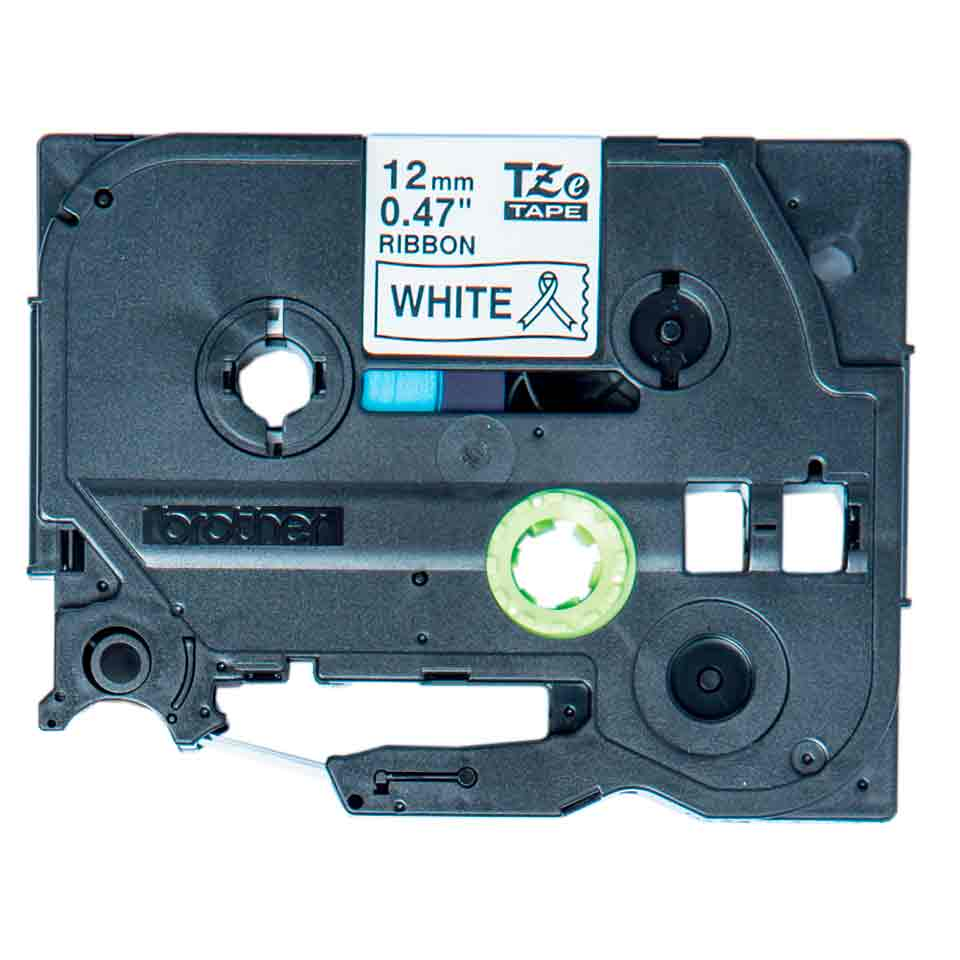 Fita Decorativa P-touch TZe-R231 Preto Sobre Branco 12mm
