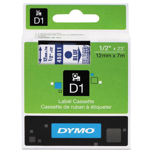 Fita Dymo D1 45011 Poliéster 12mm Azul/Transparente