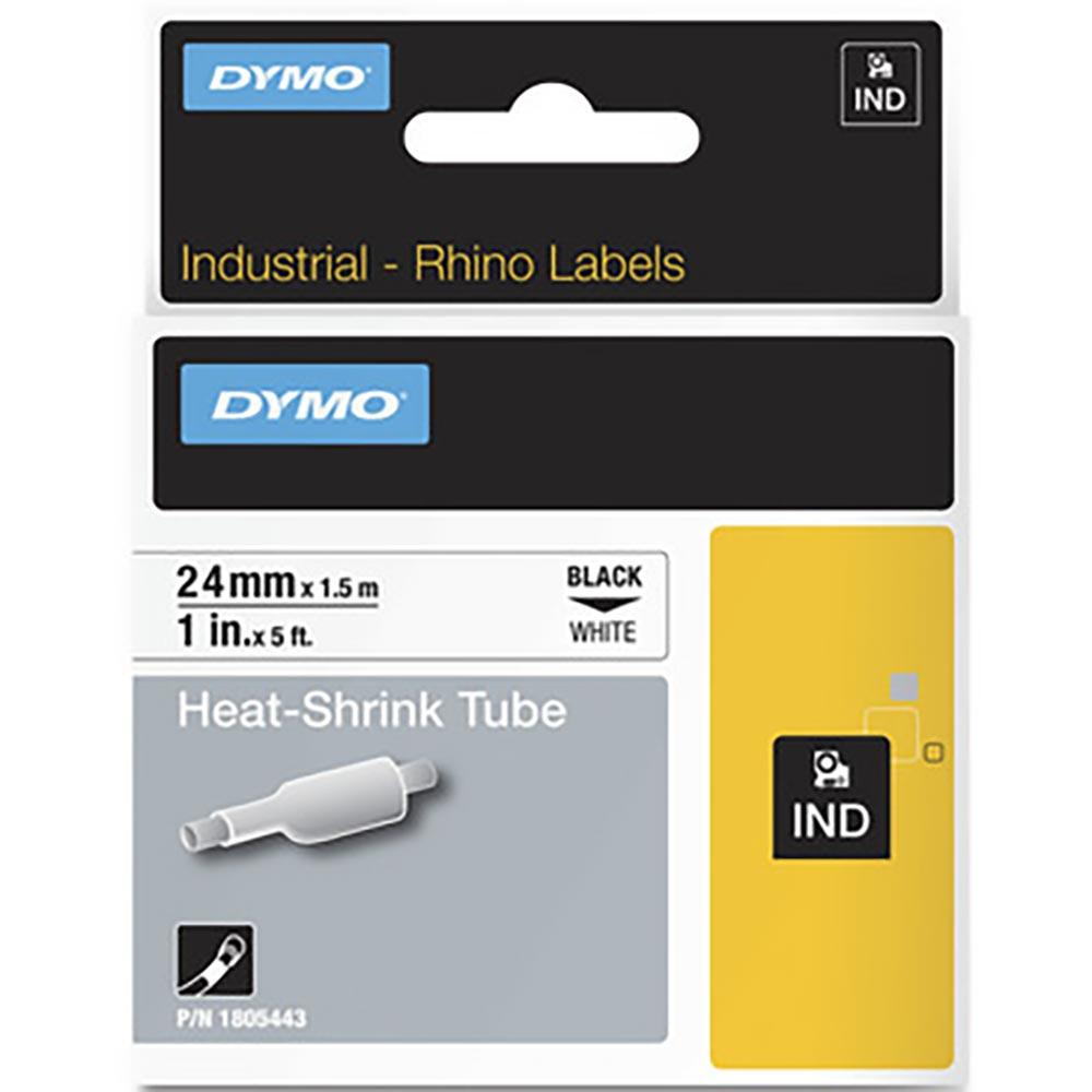 Fita Dymo Termo Retrátil Preto/Branco 24mm 1805443 Rhino