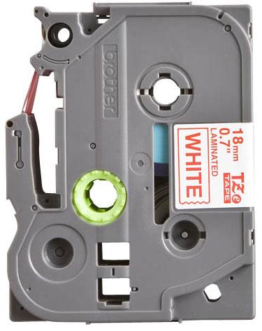 Fita Rotulador Brother TZE-242 18mm Vermelho/Branco