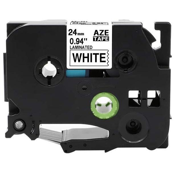 Fita Para Rotulador AZe-251 24mm Preto/Branco
