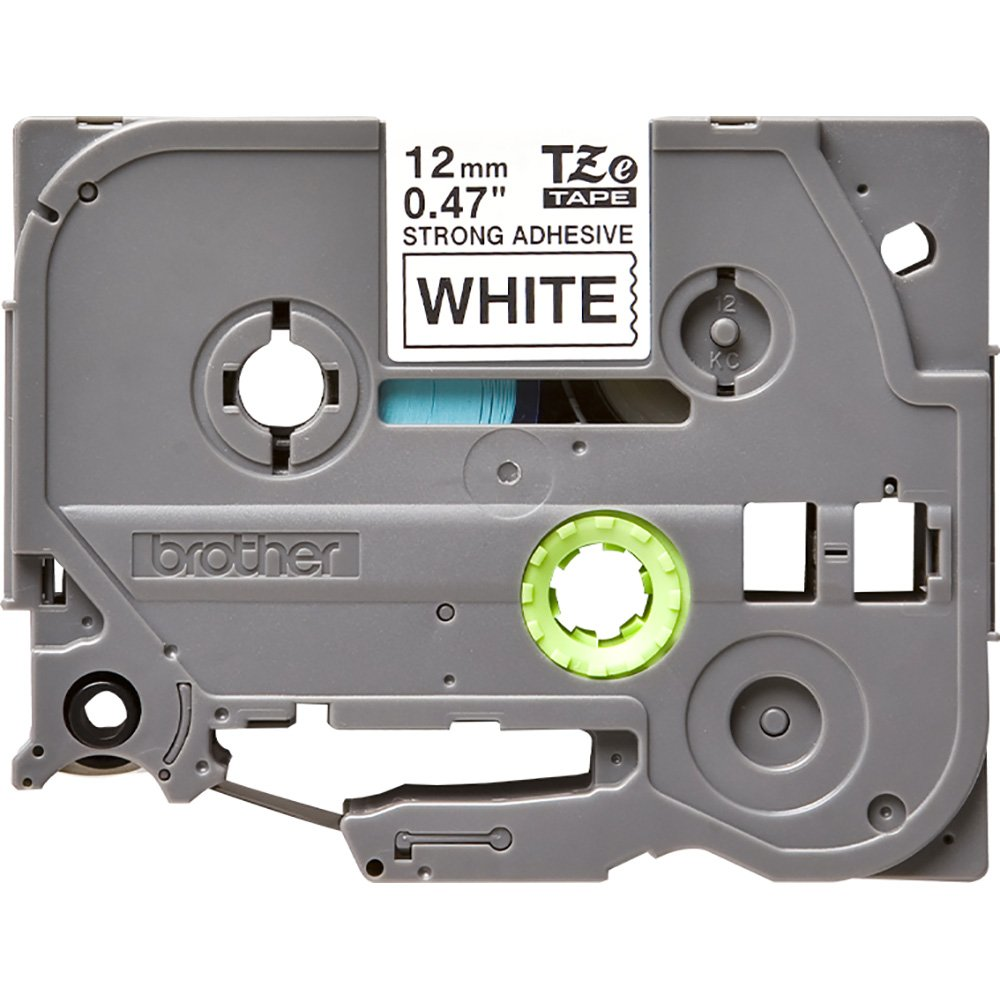 Fita Rotulador Brother TZES-231 12mm Preto/Branco Extra Forte