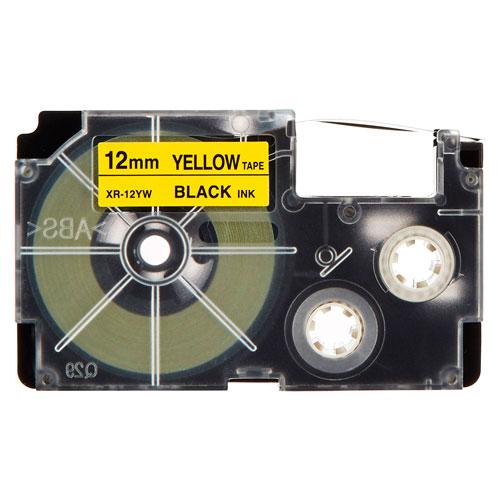 Fita Rotulador Casio XR-12YW1 12mm Preto/Amarelo