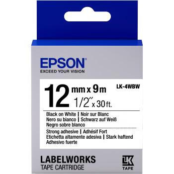 Fita Rotulador Epson LK-4WBW 12mm Preto/Branco
