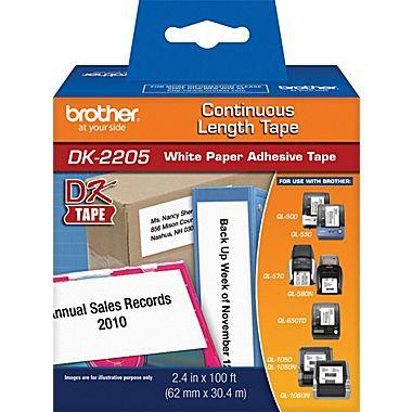Impressora de Etiquetas Brother QL-800 mais 6 Rolos DK-2205 62mm largura