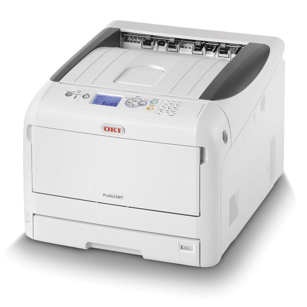 OKI Pro 8432WT A3 Color/Toner Branco Impressora Led