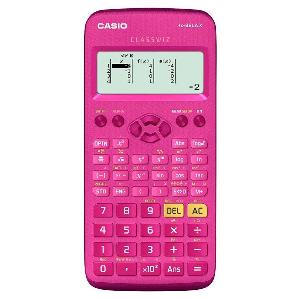 Kit 2 Calculadoras Científica Casio Fx-82lax Rosa